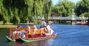 Boston Swan Boats at Public Gardens